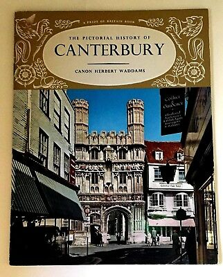 Vintage The Pictorial History of Canterbury Travel Booklet England 1968