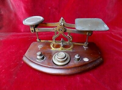 Very old brass postage scale 1850s after Samson Mordan England