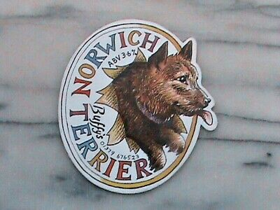 Buffy's Norwich Terrier real ale beer pump clip sign