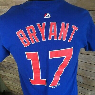 newest 941db 769fd NEW WOMENS MAJESTIC Chicago Cubs Kris Bryant #17 Long Sleeve ...