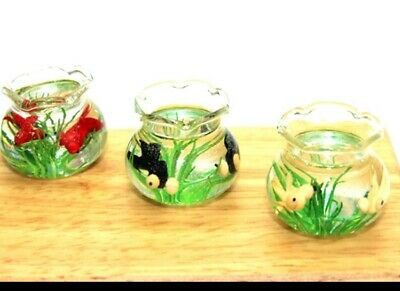Miniature Dolls House Accessories one Fish Tank with Fish 1:12th scale miniature