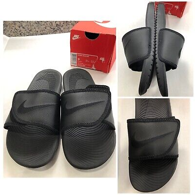 40a4242bc34d NEW Men s Nike Kawa Adjust Black Adjustable Slides Sandals Sz 9 834818-002