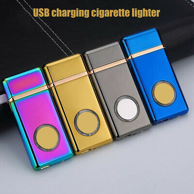 USB Rechargeable Flameless Electric Double Arc Windproof  Cigarette FG#
