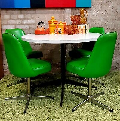 Retro Swivel Chairs and Table