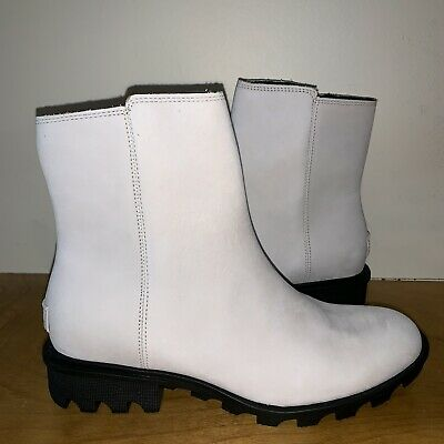 c072d9cbd1c5 SOREL Women s Phoenix Zip Boot Waterproof Ankle White Fawn - Size 8.5 New