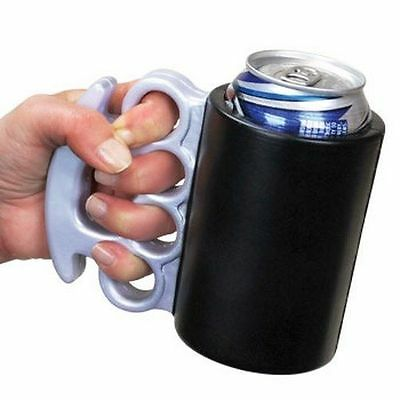 Brass Knuckles Drink Holder COZY Beer Soda Gag Gift Foam Insulated PARTY KOOZIE