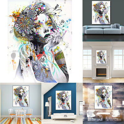 HK- Frameless Wall Art Home Decor Picture Poster Spray Oil Painting on Canva Goo