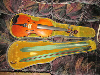 Signed Violin Cheyenne Indian Chief Yellow Hand 101 Wild West Show Very Rare