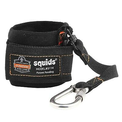 Ergodyne Squids 3166 Tool Weight Capacity 2 lbs Coil Tool Lanyard with Two Carabiners