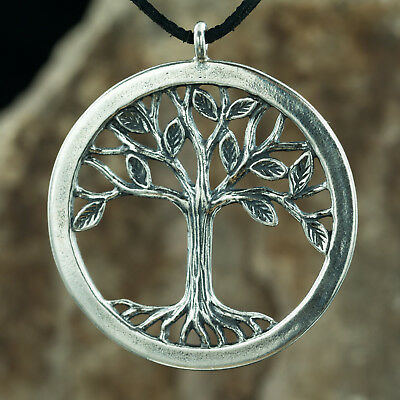 10 Large Tree of Life Charms Size Antique Silver Tone 2 Sided DYS8058