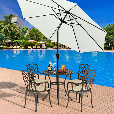 Garden Parasol Sun Shade Patio Banana Cantilever Hanging Umbrella 3m,UK STOCK