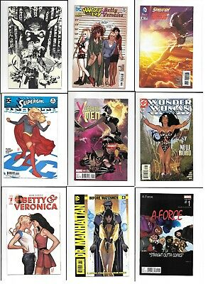 Adam Hughes 9 Comic Lot: Before Watchman #4 Wonder Woman 159 Uncanny X-men 600 +