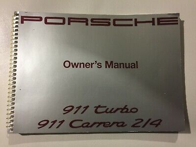 1992 porsche 911 turbo carrera 214 owners manual wkd 964 021 92 factory oem
