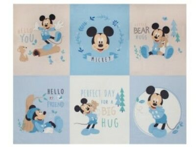 Disney Mickey Mouse Quilt Panel * Little Meadow * New * Free Post *