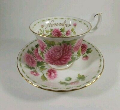 Royal Albert Flower of the Month Series November - Teacup and Saucer