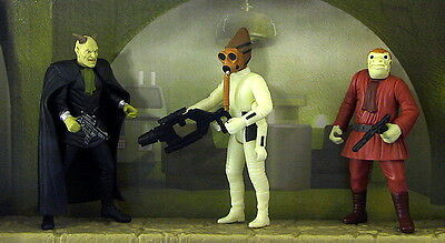 Star Wars Potf-2 Cantina Aliens 3 Pack Loose Complete
