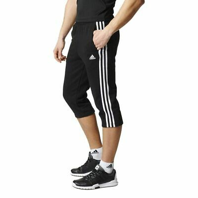 adidas Men's Essentials 3s 3/4 French Terry Pant - Black