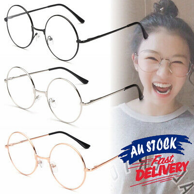 Unisex Glasses Retro Clear Lens Metal Frame Harry potter Vintage Round Fashion