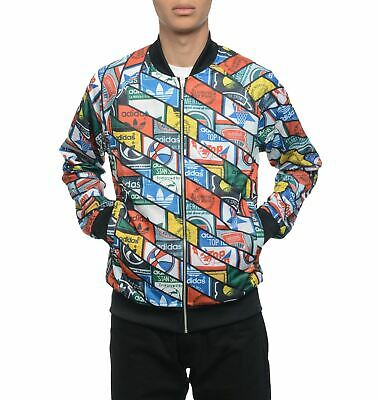 adidas Originals Men's Track Jacket In All Over Print Street - Colorful