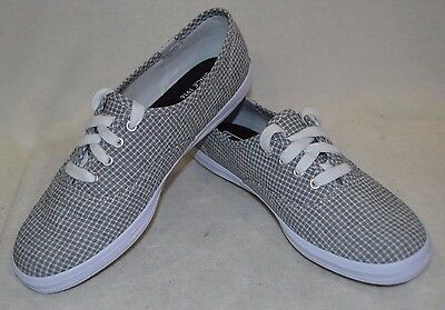 b11f0aeacae Keds Women s Champion Seersucker Black White Canvas Shoes-Size 6.5 NWOB  WF55545