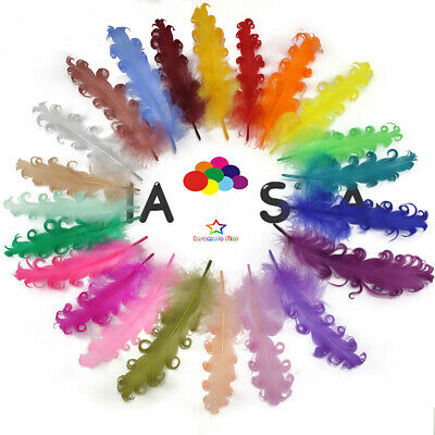 100 pcs Curly Goose Feather 15-20 CM/6-8inch 30 Color Carnival Wedding Halloween
