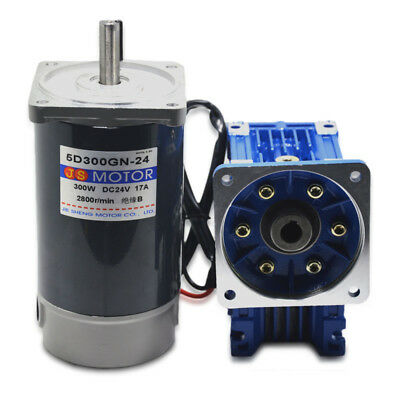 DC12V/24V 300W Worm Gear Reducer Gearbox Electric RV Gear Motor High Torque