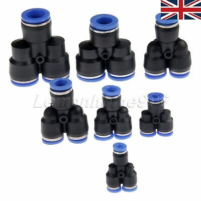 5pcs Pneumatic Y Union Splitter Connector Push In Fitting for Air//Water Hose Kit