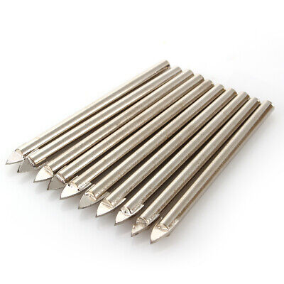 10Pcs 6mm Tile Glass Ceramic Mirror Tungsten Carbide Drill Bit Set Spear Head MF