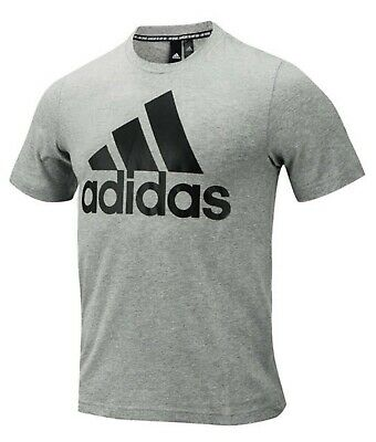 Adidas Men Must Have BOS Shirts Training Gray Running Tee Shirt Jersey DT9930