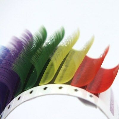 Individual Multi-Color Eyelashes Extensions Mix Rainbow 6 Colors Lashes 10/12mm