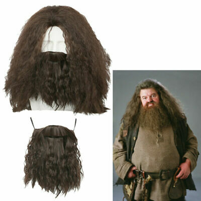 White Short Wig Moustache Cosplay The Colonel Sander Halloween Costume HM-231
