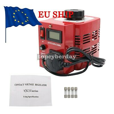 500W Variac Variable Transformer Voltage Regulator Powerstat 0-250V Output UK