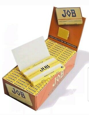 Job Luxury Cigarette Rolling Papers Full Box 25 Double Booklets Of 100 Papers