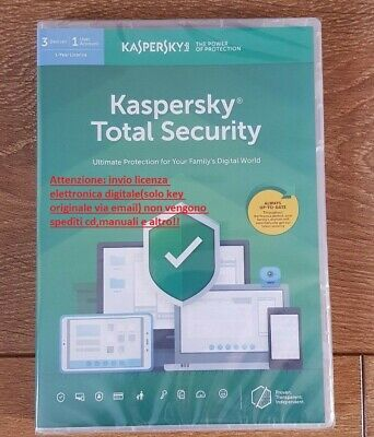Antivirus Kaspersky Total Security 2019 3 Device(Pc/Mac/Android) 1 ANNO LICENZA