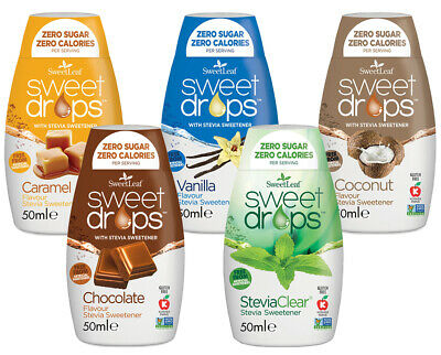 Sweetleaf Stevia Sweet Drops  48ml – MIXED PACK  5 - 1 of Each C,CA,CH,V,CO