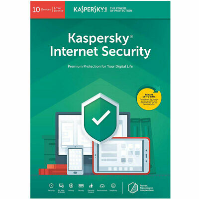 Kaspersky Internet Security 2019 Anti Virus 10 Devices, 1 Year Sealed New Uk