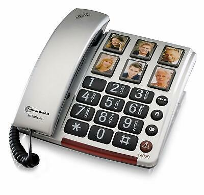 Amplicomms BigTel 40 Plus Amplified Big Button Telephone with Photo Buttons