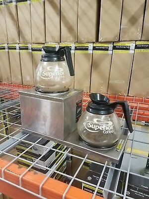 Lot (2) Curtis AW-2 Commercial Stainless Double Coffee Decanter Warmer Tested