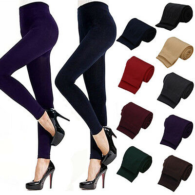 HK- Lady Women Winter Warm Skinny Slim Stretch Pants Thick Footless Tights Relia