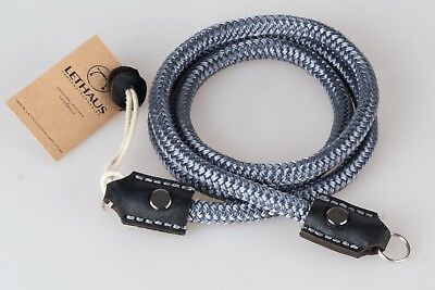 Lethaus - Rope Camera Strap With Leather Connector - (Grey / Black)