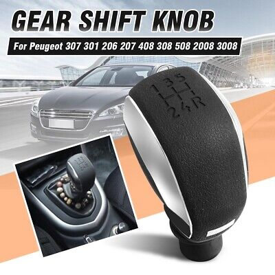 5 Speed Gear Shift Stick Knob For Peugeot 307 301 206 207 408 308 508 2008 3008
