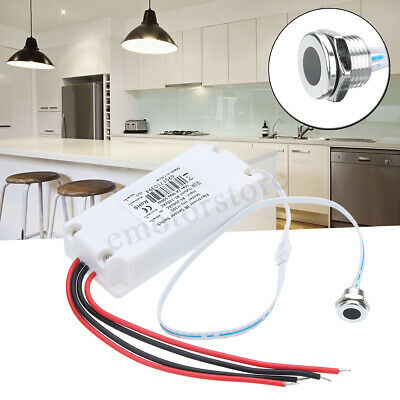 Electronic Touchless IR Motion Sensor LED Light On/Off Switch Kitchen Cabinet -