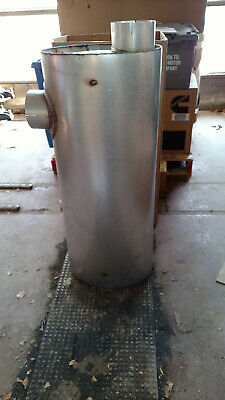 """E8HZ5230D Oval Muffler 36"""" oem new  5"""" in and out Freightliner Nelson 20445A"""