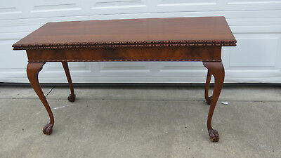 Kittinger Game Sofa Table Console Chippendale  Mahogany Chippendale