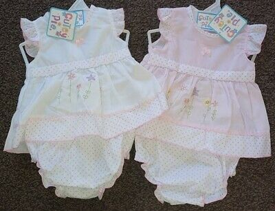 Baby Girl Sun Dress Knickers Pants Frilly Spanish Style Premature Prem Reborn
