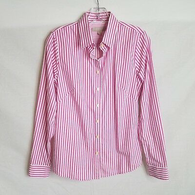 ca257bf0 Banana Republic Women's Non-Iron Fitted Button Down Shirt Striped Size 6  S426