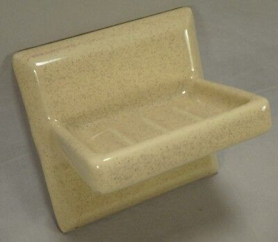 Willette Tile Speckled Butternut Yellow 5 Porcelain Ceramic Soap Dish Wall Mount