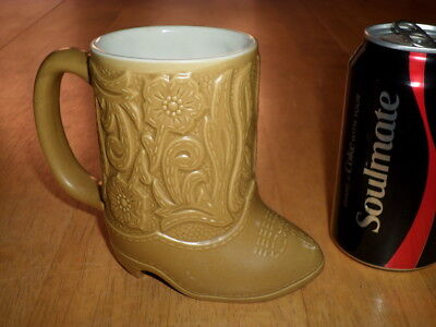 COWBOY BOOT [3-D] SHAPED, CERAMIC COFFEE CUP / MUG, VINTAGE MADE BRAZIL1960's yr