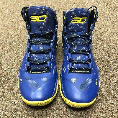 2a732de0b061 Under Armour Steph Curry 2  Dub Nation  UA SC30 Warriors Blue Yellow (Size