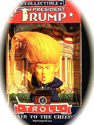 """Troll Doll """"President Trump"""" Collectable - New"""